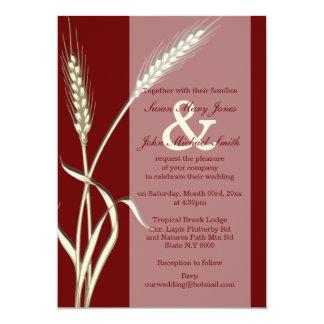 Burgundy cream wedding engagement anniversary custom announcements