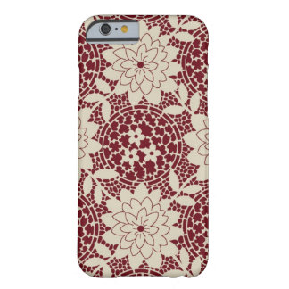 burgundy creme floral lattice damask barely there iPhone 6 case