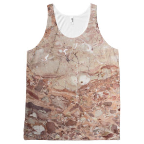 Burgundy Crimson Stoney Pebble Marble finish All-Over-Print Tank Top