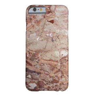 Burgundy Crimson Stoney Pebble Marble finish Barely There iPhone 6 Case