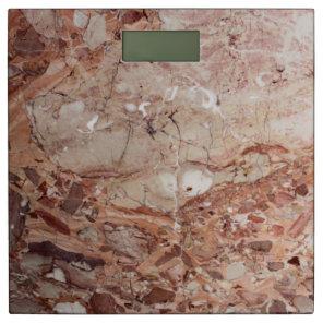 Burgundy Crimson Stoney Pebble Marble finish Bathroom Scale