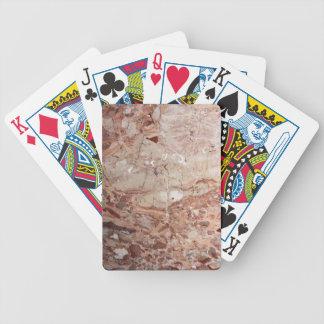 Burgundy Crimson Stoney Pebble Marble finish Bicycle Playing Cards