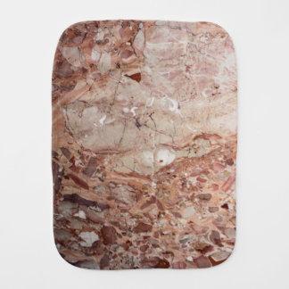 Burgundy Crimson Stoney Pebble Marble finish Burp Cloth