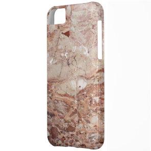 Burgundy Crimson Stoney Pebble Marble finish Case For iPhone 5C
