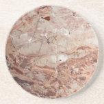 Burgundy Crimson Stoney Pebble Marble finish Coaster