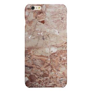 Burgundy Crimson Stoney Pebble Marble finish Glossy iPhone 6 Plus Case