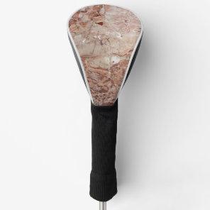 Burgundy Crimson Stoney Pebble Marble finish Golf Head Cover