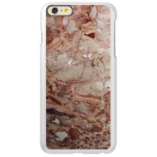 Burgundy Crimson Stoney Pebble Marble finish Incipio Feather Shine iPhone 6 Plus Case