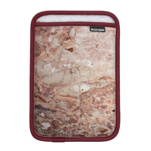 Burgundy Crimson Stoney Pebble Marble finish iPad Mini Sleeve