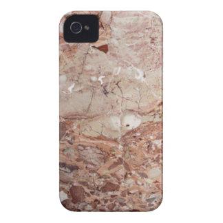 Burgundy Crimson Stoney Pebble Marble finish iPhone 4 Case