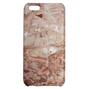 Burgundy Crimson Stoney Pebble Marble finish iPhone 5C Cover