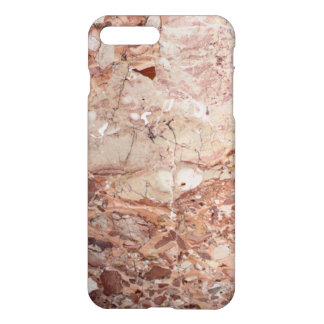 Burgundy Crimson Stoney Pebble Marble finish iPhone 7 Plus Case