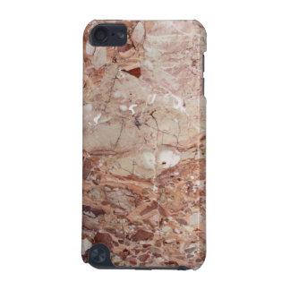 Burgundy Crimson Stoney Pebble Marble finish iPod Touch (5th Generation) Case