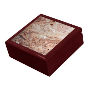 Burgundy Crimson Stoney Pebble Marble finish Keepsake Box