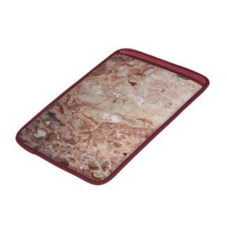 Burgundy Crimson Stoney Pebble Marble finish MacBook Air Sleeve