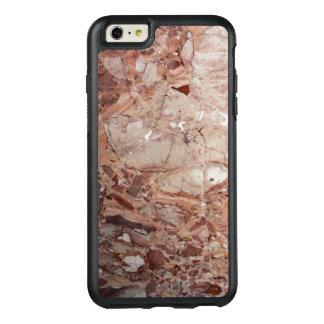 Burgundy Crimson Stoney Pebble Marble finish OtterBox iPhone 6/6s Plus Case
