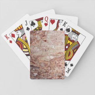 Burgundy Crimson Stoney Pebble Marble finish Playing Cards