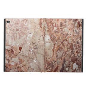 Burgundy Crimson Stoney Pebble Marble finish Powis iPad Air 2 Case