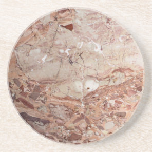Burgundy Crimson Stoney Pebble Marble finish Sandstone Coaster