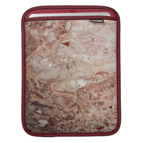 Burgundy Crimson Stoney Pebble Marble finish Sleeve For iPads