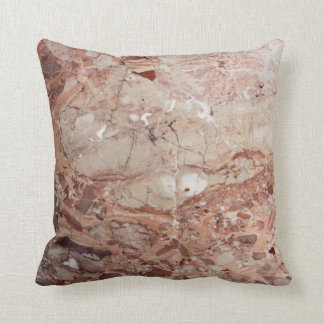 Burgundy Crimson Stoney Pebble Marble finish Throw Pillow