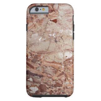 Burgundy Crimson Stoney Pebble Marble finish Tough iPhone 6 Case