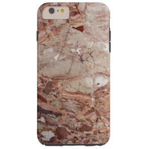 Burgundy Crimson Stoney Pebble Marble finish Tough iPhone 6 Plus Case