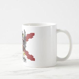 Burgundy cross double-headed eagle coffee mug