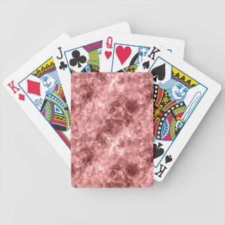 Burgundy Crumpled Texture Bicycle Playing Cards