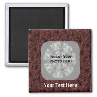 Burgundy Daisies Photo Magnet