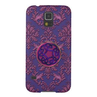 Burgundy Damask Celtic Knot Samsung S5 Case Galaxy S5 Case