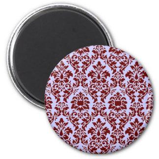 Burgundy Damask Magnet