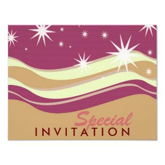 Burgundy Desert Stars Special Invitations