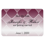 Burgundy Diamond Wedding Save the Date Magnets