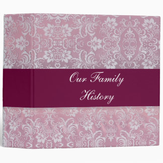 Burgundy Family History Book Binder