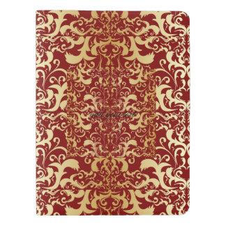 burgundy,faux gold,damask,vintage,elegant,chic,pat extra large moleskine notebook