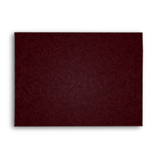 Burgundy Filigree Envelope - A7 Greeting Card