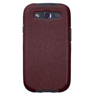 Burgundy Filigree Samsung Galaxy Case Galaxy SIII Cover