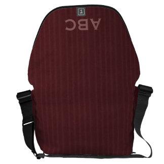 Burgundy Flannel Pattern Messenger Bag