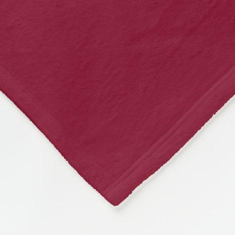 Burgundy Fleece Blanket