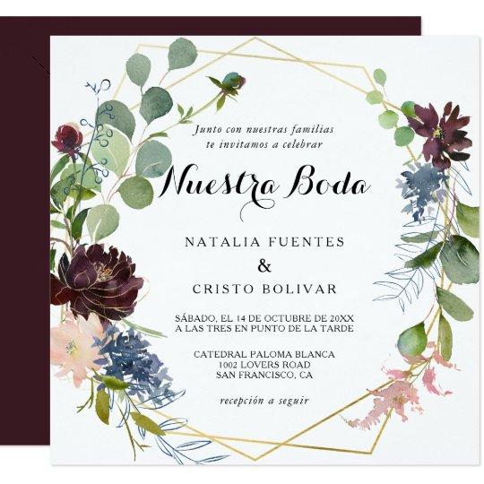 spanish wedding invitation or 26 spanish wedding invitations wording