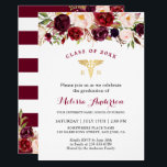 "Burgundy Floral Nursing School Graduation Party Invitation<br><div class=""desc"">Burgundy Floral Nursing School Graduation Party Invitation. (1) For further customization, please click the &quot;customize further&quot; link and use our design tool to modify this template. (2) If you prefer Thicker papers / Matte Finish, you may consider to choose the Matte Paper Type. (3) If you need help or matching...</div>"