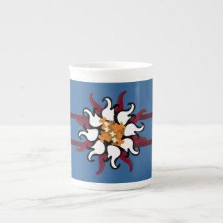 Burgundy Floral with Stripes Mug