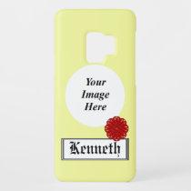 Burgundy Flower Ribbon by Kenneth Yoncich Case-Mate Samsung Galaxy S9 Case
