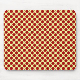 Burgundy Flower Ribbon by Kenneth Yoncich Mouse Pad