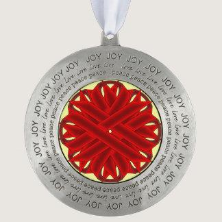 Burgundy Flower Ribbon by Kenneth Yoncich Ornament