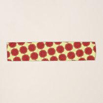 Burgundy Flower Ribbon by Kenneth Yoncich Scarf