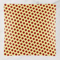 Burgundy Flower Ribbon by Kenneth Yoncich Trinket Trays