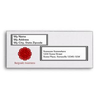 Burgundy Flower Ribbon Envelope