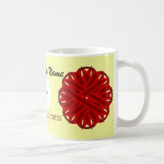 Burgundy Flower Ribbon Template by Kenneth Yoncich Coffee Mug